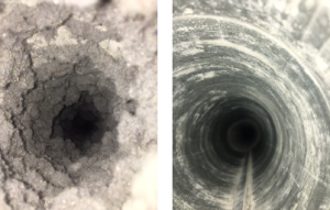 Kansas City dryer vent before and after